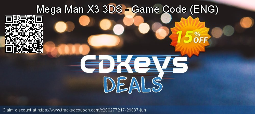 Mega Man X3 3DS - Game Code - ENG  coupon on National Kissing Day sales
