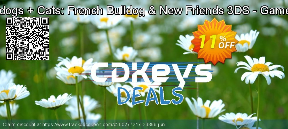 Nintendogs + Cats: French Bulldog & New Friends 3DS - Game Code coupon on Egg Day sales