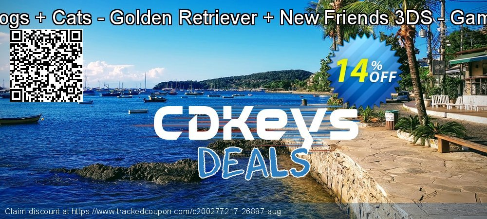 Nintendogs + Cats - Golden Retriever + New Friends 3DS - Game Code coupon on World Bicycle Day deals