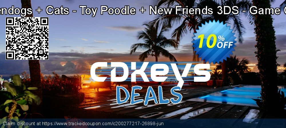 Nintendogs + Cats - Toy Poodle + New Friends 3DS - Game Code coupon on Social Media Day offer