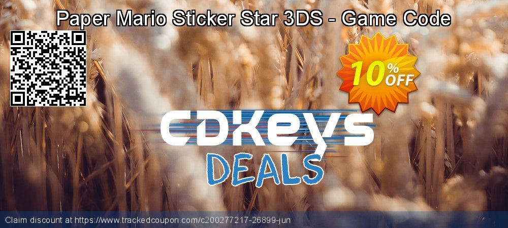 Paper Mario Sticker Star 3DS - Game Code coupon on World Oceans Day discount