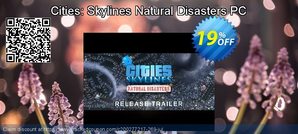 Cities: Skylines Natural Disasters PC coupon on World UFO Day offering sales
