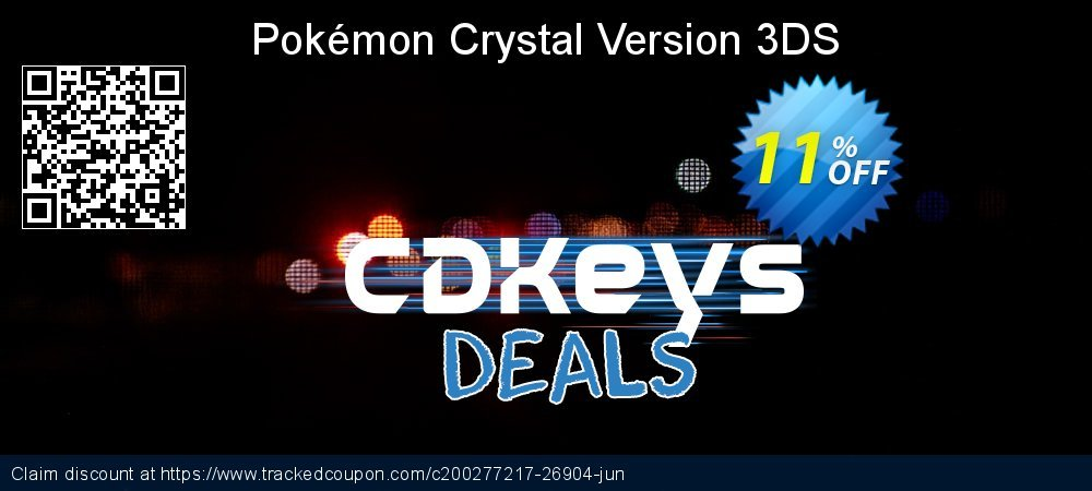 Pokémon Crystal Version 3DS coupon on Summer promotions