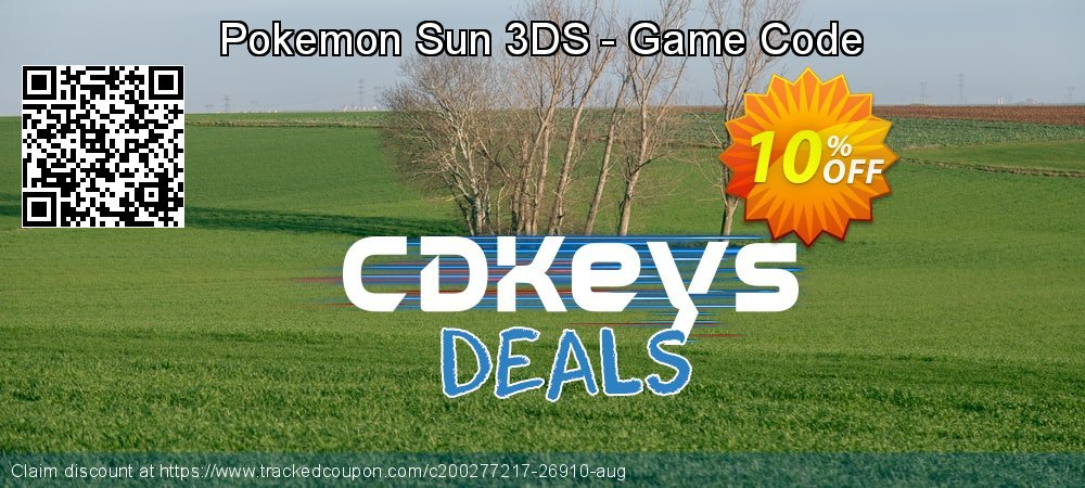 Pokemon Sun 3DS - Game Code coupon on World Bicycle Day offering sales