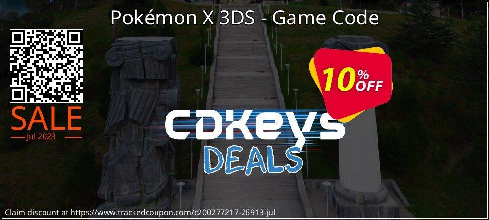 Get 10% OFF Pokémon X 3DS - Game Code deals