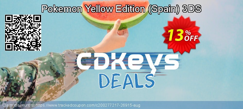 Pokemon Yellow Edition - Spain 3DS coupon on Hug Holiday deals