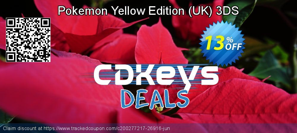 Pokemon Yellow Edition - UK 3DS coupon on New Year super sale