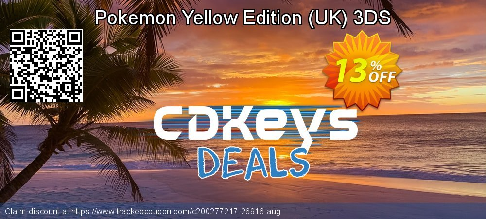 Pokemon Yellow Edition - UK 3DS coupon on Camera Day offer