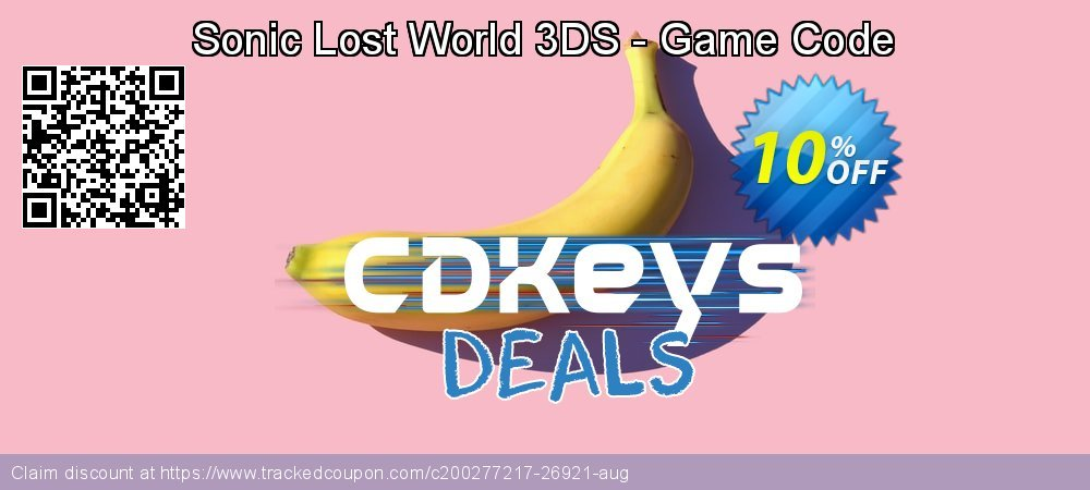 Sonic Lost World 3DS - Game Code coupon on World Milk Day discounts