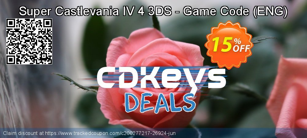Super Castlevania IV 4 3DS - Game Code - ENG  coupon on Social Media Day deals