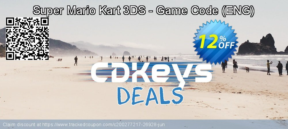 Super Mario Kart 3DS - Game Code - ENG  coupon on Hug Holiday offering sales