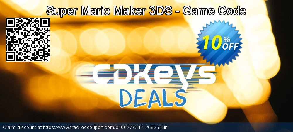 Super Mario Maker 3DS - Game Code coupon on Camera Day super sale