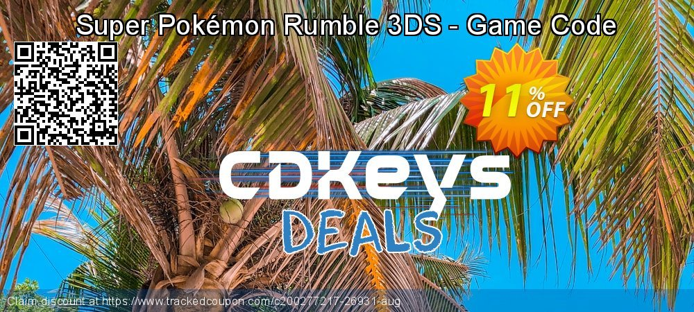 Super Pokémon Rumble 3DS - Game Code coupon on Father's Day promotions