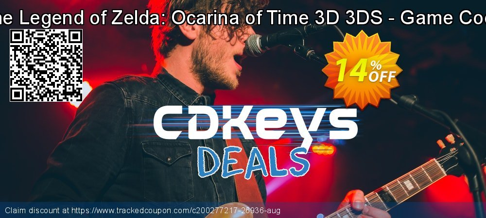 The Legend of Zelda: Ocarina of Time 3D 3DS - Game Code coupon on Video Game Day offering sales