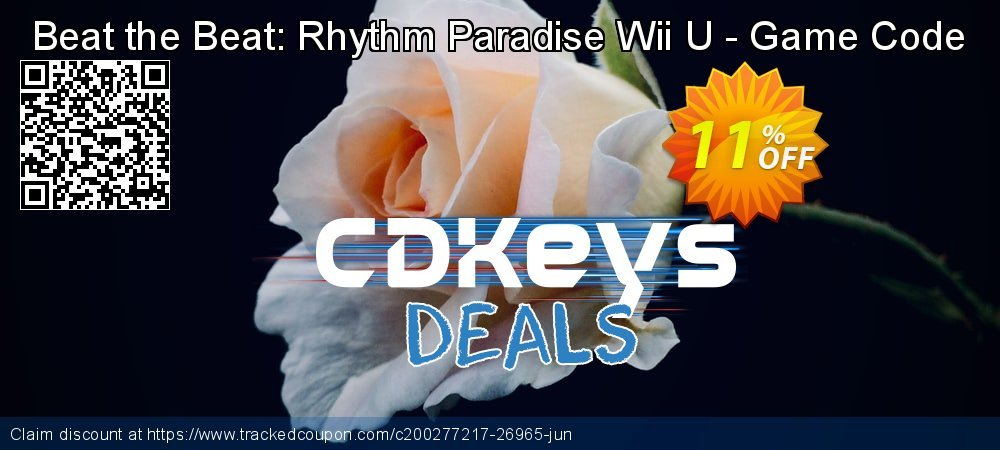 Beat the Beat: Rhythm Paradise Wii U - Game Code coupon on National Kissing Day super sale