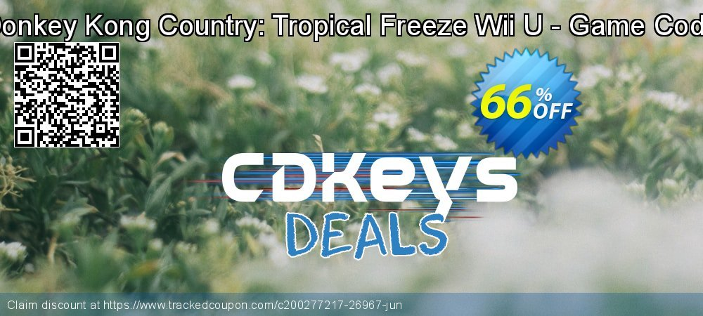Donkey Kong Country: Tropical Freeze Wii U - Game Code coupon on Hug Holiday promotions