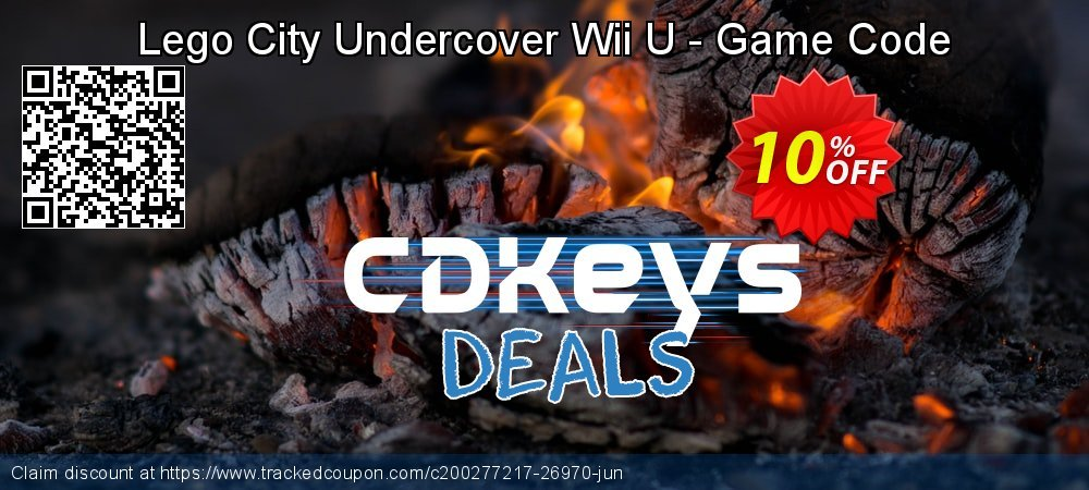 Lego City Undercover Wii U - Game Code coupon on Father's Day offer