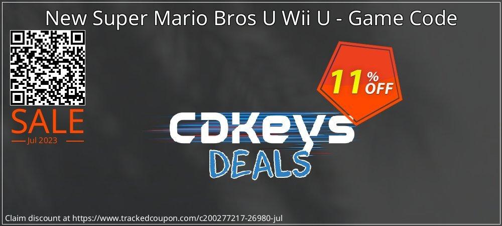New Super Mario Bros U Wii U - Game Code coupon on Hug Holiday discount