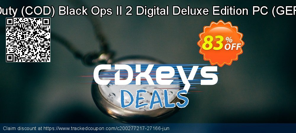 Get 83% OFF Call of Duty (COD) Black Ops II 2 Digital Deluxe Edition PC (GERMANY) offering sales