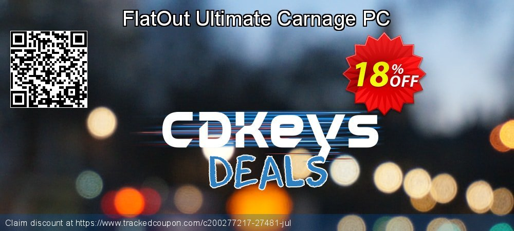 Get 10% OFF FlatOut Ultimate Carnage PC deals