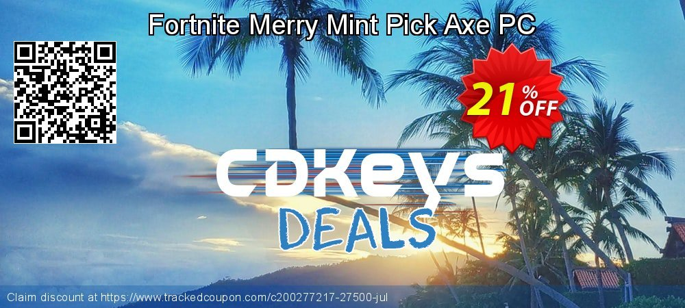Get 20% OFF Fortnite Merry Mint Pick Axe PC offer