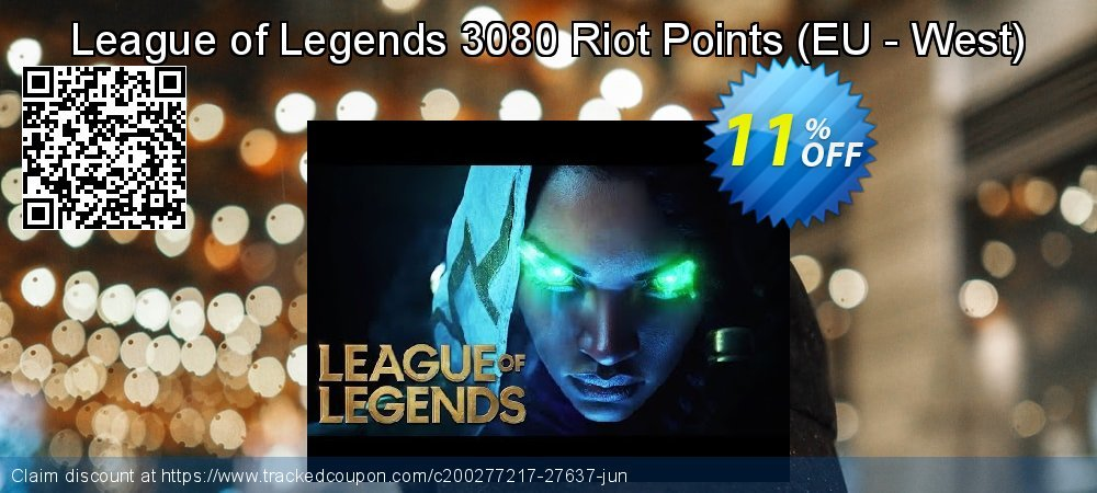 League of Legends 3080 Riot Points - EU - West  coupon on Black Friday promotions