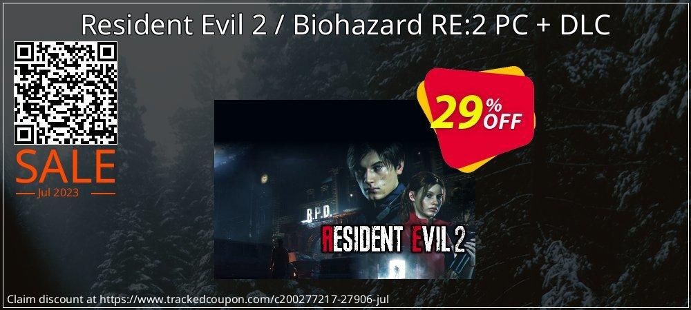 Resident Evil 2 / Biohazard RE:2 PC + DLC coupon on Thanksgiving discounts