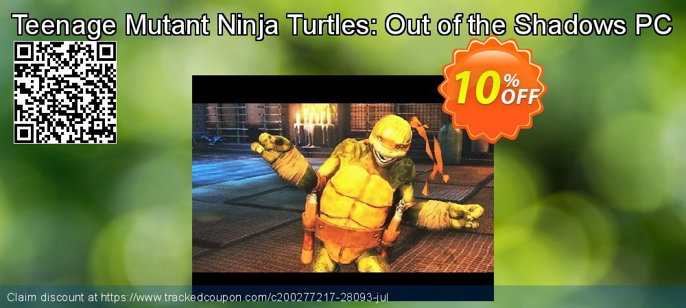 Get 10% OFF Teenage Mutant Ninja Turtles: Out of the Shadows PC offering deals