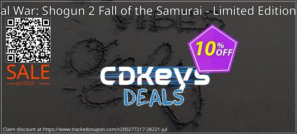 Get 10% OFF Total War: Shogun 2 Fall of the Samurai - Limited Edition PC discounts