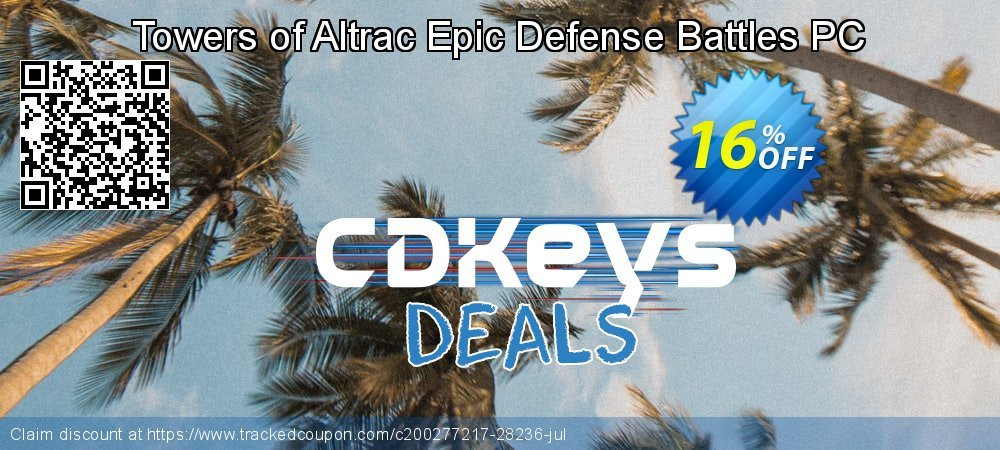 Get 10% OFF Towers of Altrac Epic Defense Battles PC offering sales