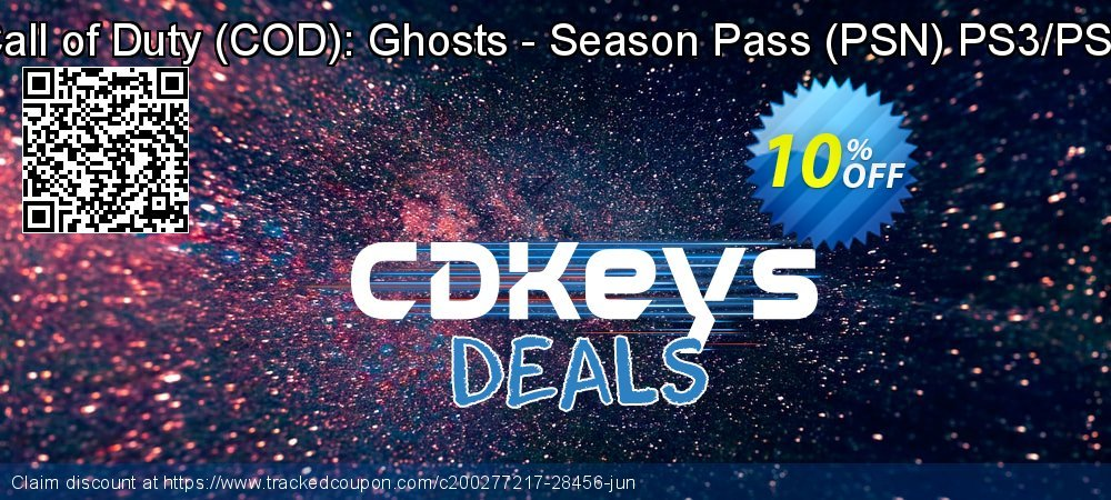 Get 10% OFF Call of Duty (COD): Ghosts - Season Pass (PSN) PS3/PS4 promo sales