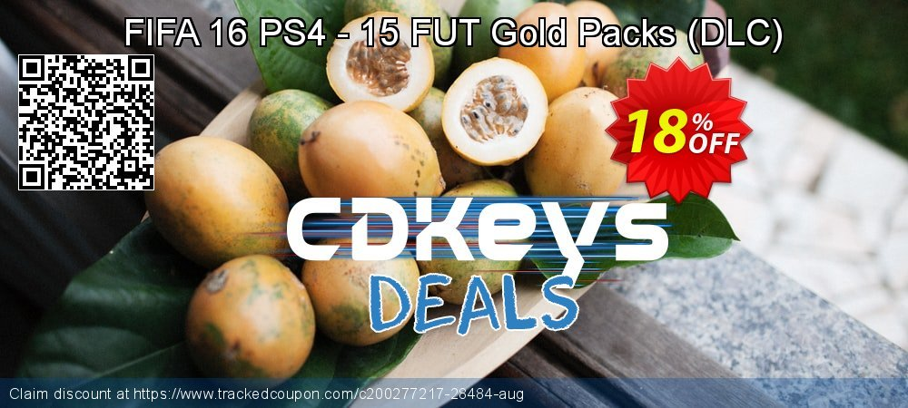 FIFA 16 PS4 - 15 FUT Gold Packs - DLC  coupon on Thanksgiving sales