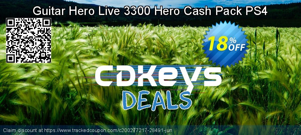 Guitar Hero Live 3300 Hero Cash Pack PS4 coupon on Father's Day offer