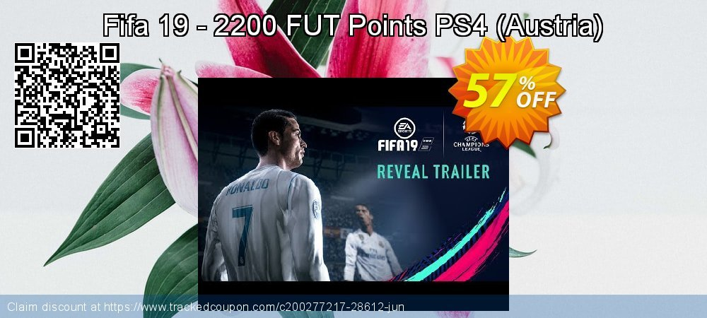 Get 56% OFF Fifa 19 - 2200 FUT Points PS4 (Austria) offering sales