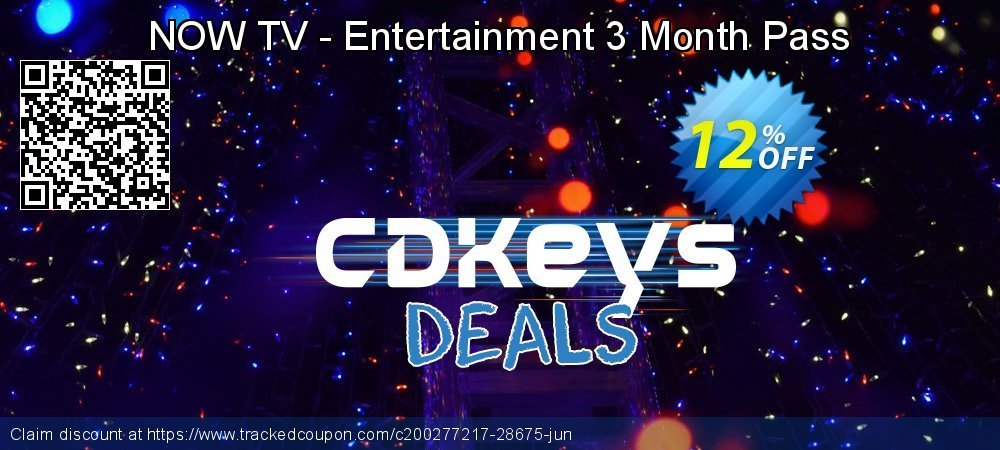 NOW TV - Entertainment 3 Month Pass coupon on World Bicycle Day super sale