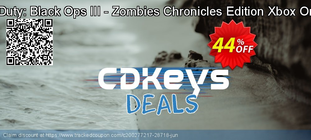 Call of Duty: Black Ops III - Zombies Chronicles Edition Xbox One - UK  coupon on Social Media Day offering discount