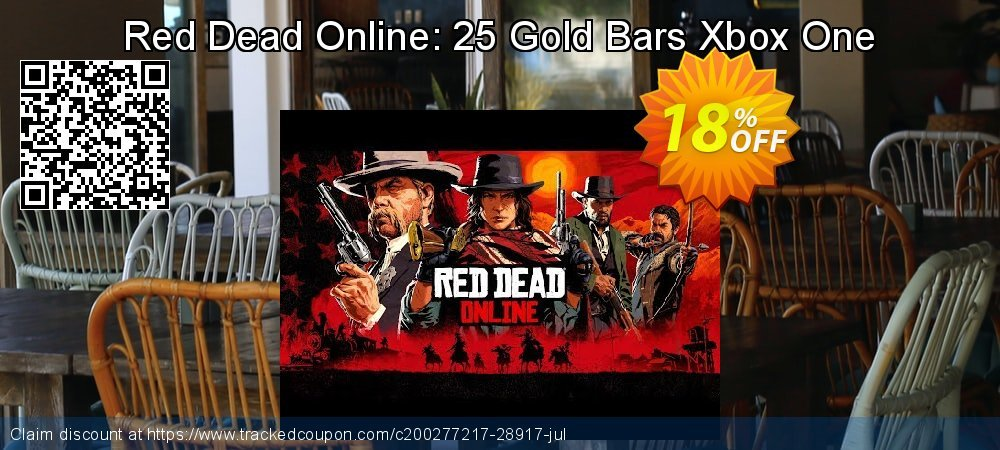 Get 10% OFF Red Dead Online: 25 Gold Bars Xbox One offering sales