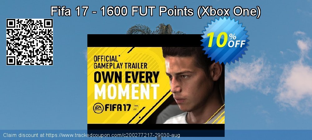 Get 10% OFF Fifa 17 - 1600 FUT Points (Xbox One) offering sales