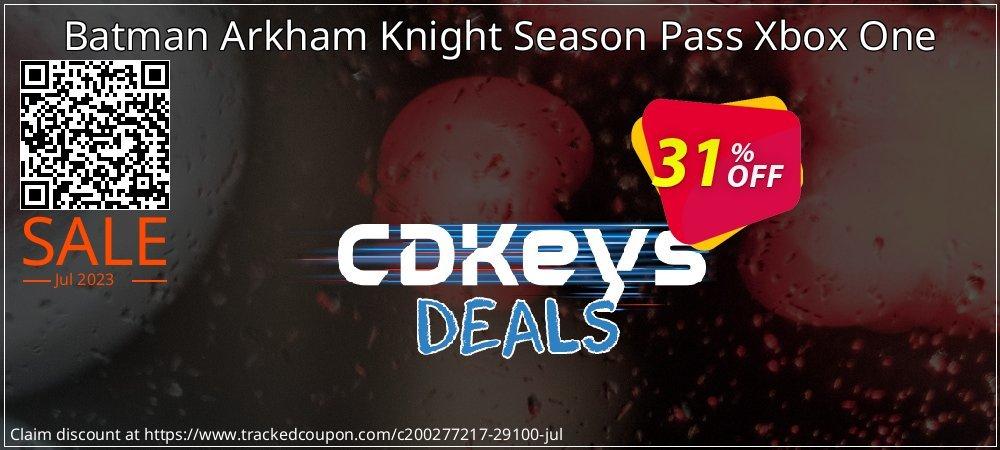 Batman Arkham Knight Season Pass Xbox One coupon on Camera Day promotions