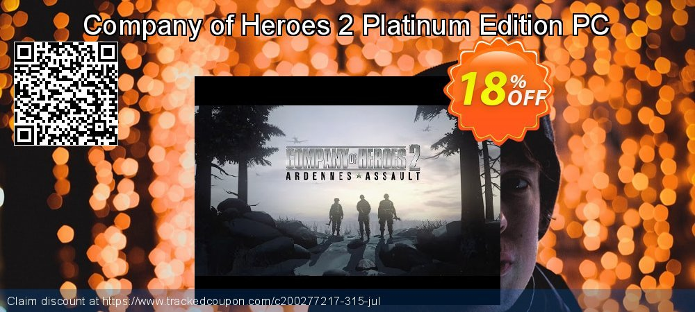 Company of Heroes 2 Platinum Edition PC coupon on Parents' Day super sale