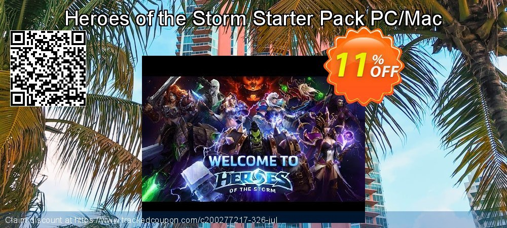 Heroes of the Storm Starter Pack PC/Mac coupon on Tattoo Day promotions