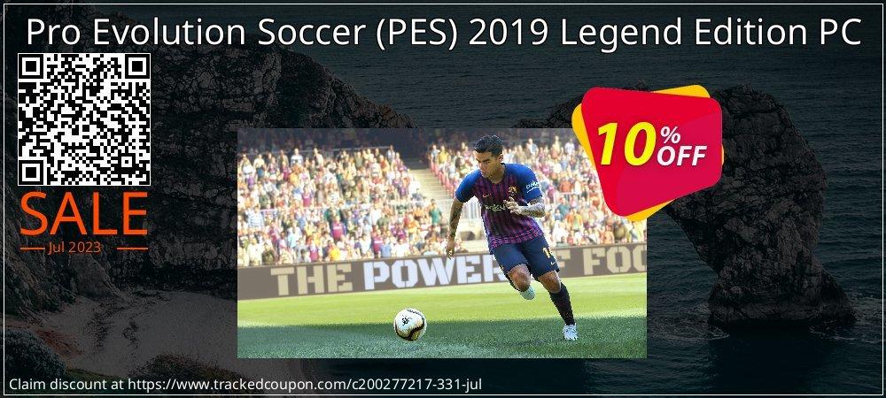 Get 75% OFF Pro Evolution Soccer (PES) 2019 Legend Edition PC offering sales