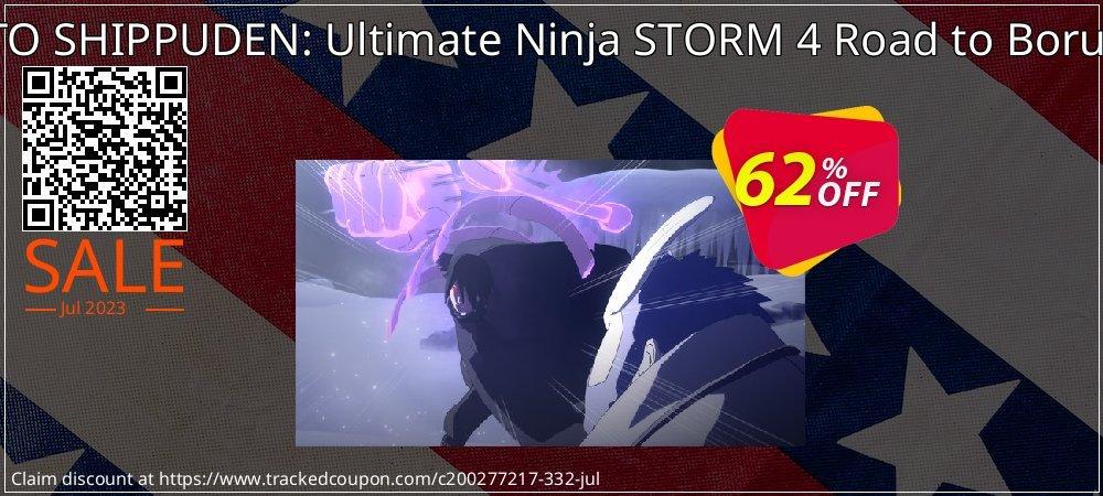NARUTO SHIPPUDEN: Ultimate Ninja STORM 4 Road to Boruto DLC coupon on World Chocolate Day offering sales