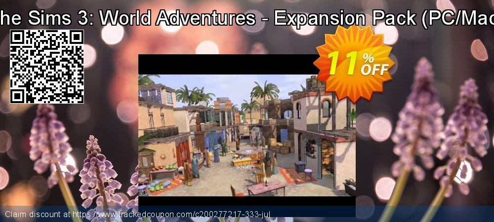 Get 10% OFF The Sims 3: World Adventures - Expansion Pack (PC/Mac) offering sales