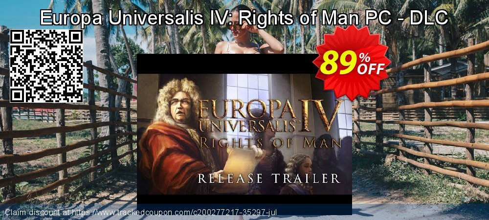 Get 73% OFF Europa Universalis IV: Rights of Man PC - DLC promo sales