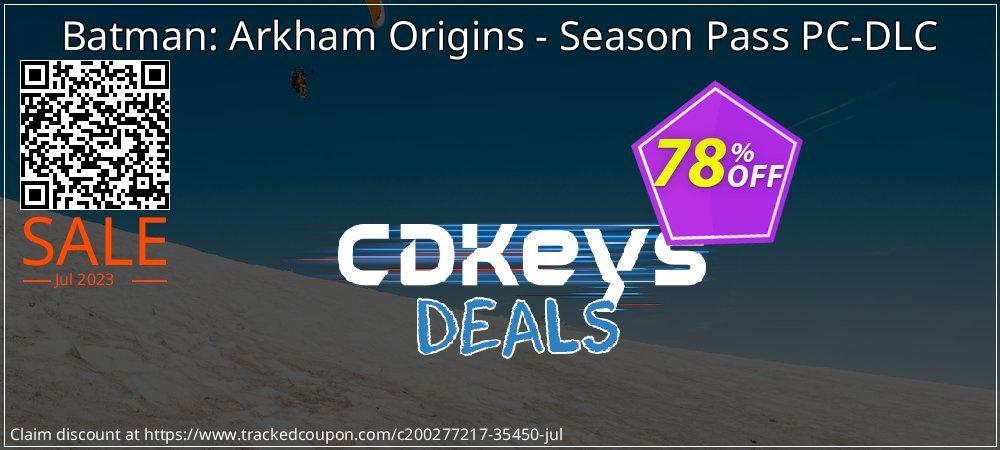 Batman: Arkham Origins - Season Pass PC-DLC coupon on Mom Day discount
