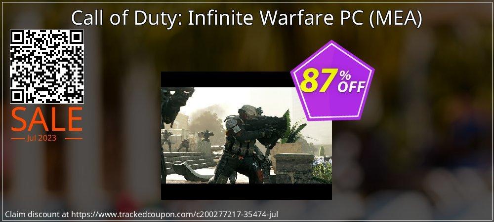 Get 86% OFF Call of Duty: Infinite Warfare PC (MEA) sales