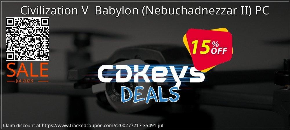 Get 10% OFF Civilization V Babylon (Nebuchadnezzar II) PC offering sales