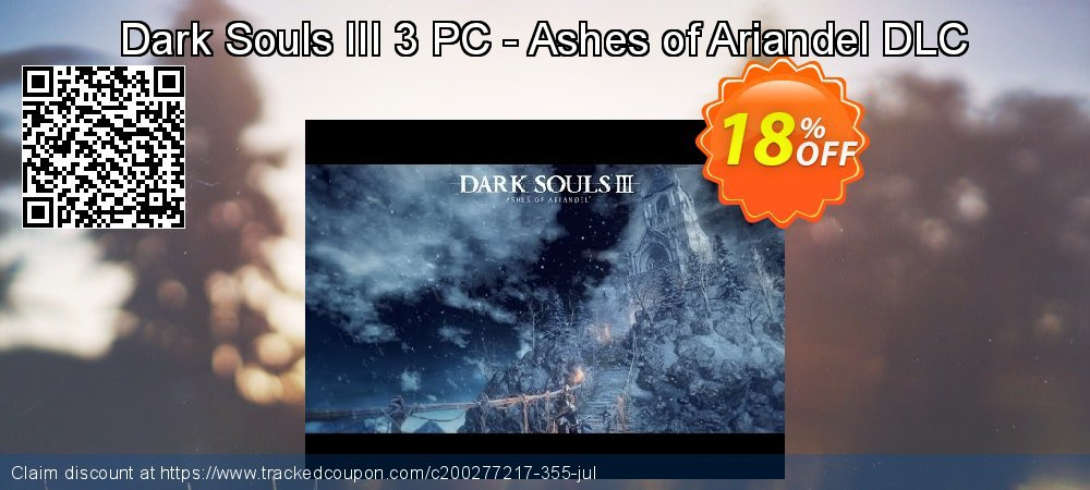 Dark Souls III 3 PC - Ashes of Ariandel DLC coupon on Summer deals