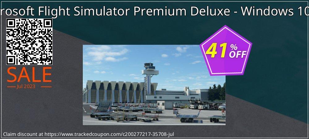 Microsoft Flight Simulator Premium Deluxe - Windows 10 PC coupon on Mom Day sales